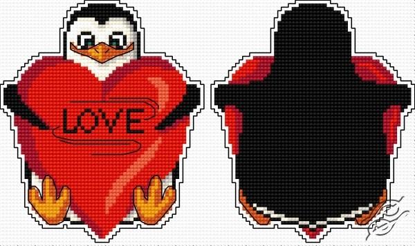 Penguin Heart - Pendant by Aslynn Foreignet - 000960