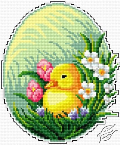 Easter Egg - Little Chick by Aslynn Foreignet - 000989
