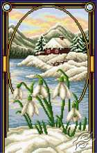 Landscape With Snowdrops by Aslynn Foreignet - 001327