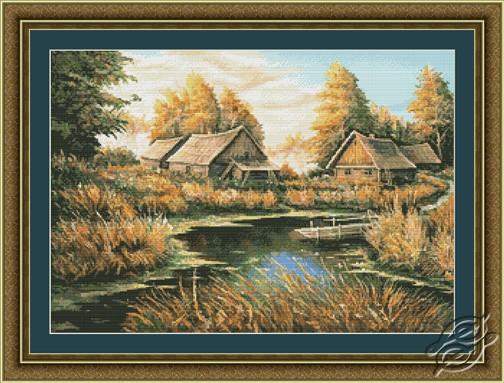 Rural River Landscape by Kustom Krafts - 97053