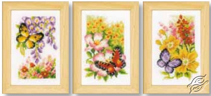 Butterflies and Flowers by Vervaco - PN-0155954