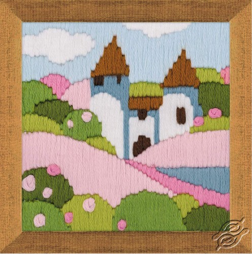 Pink Garden by RIOLIS - 1572