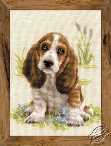 Basset Hound Puppy by RIOLIS - 1578