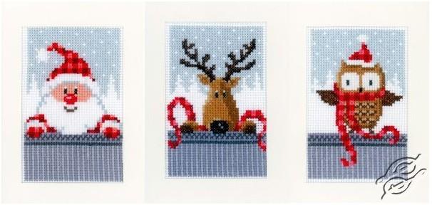Christmas Buddies I Cards by Vervaco - PN-0149384