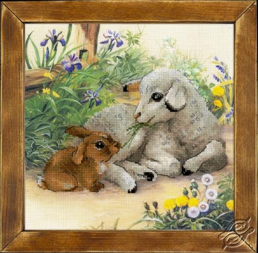 Lamb and Rabbit by RIOLIS - 0051-PT
