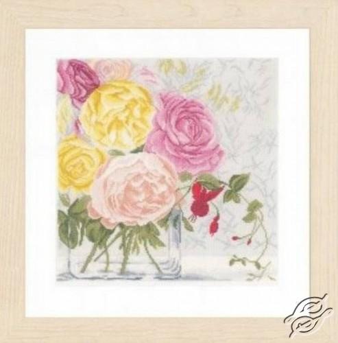 Pastel Flowers In Vase by Lanarte - PN-0155030