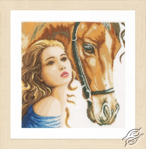 Woman and Horse by Lanarte - PN-0158324