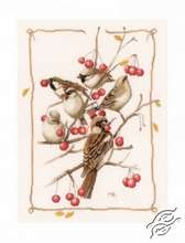 Sparrow With Red Berries by Lanarte - PN-0162298
