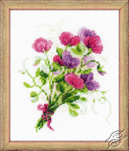 Bouquet with Sweet Peas by RIOLIS - 1606