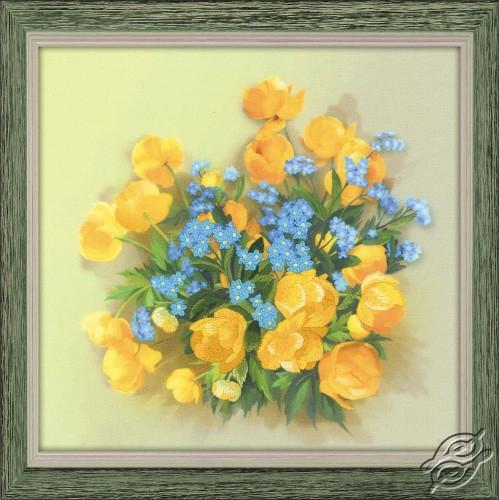 Globe Flowers by RIOLIS - 0058-PT