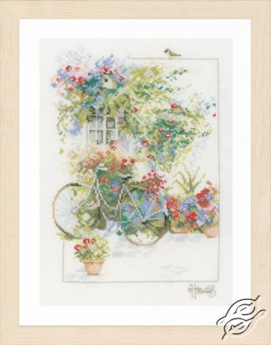Flowers & Bicycle by Lanarte - PN-0168447