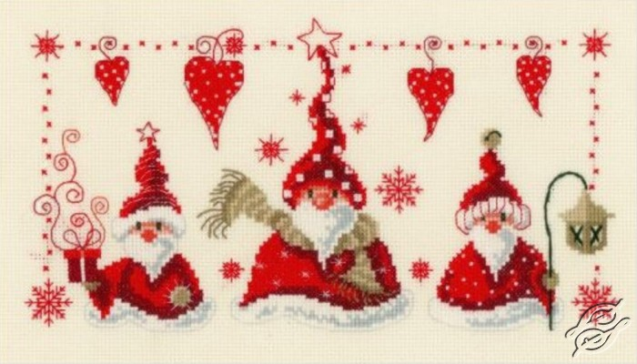 Cheerful Santas by Vervaco - PN-0148065