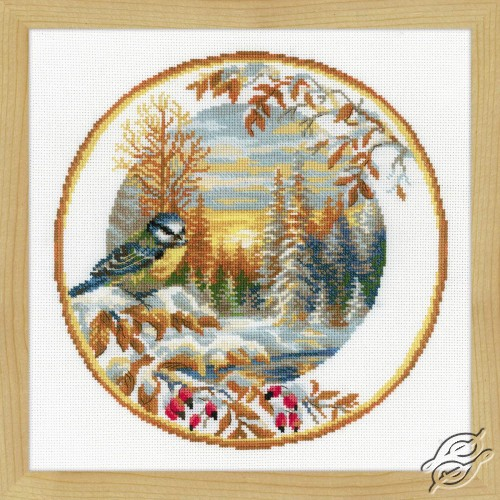 Plate with Great Tit by RIOLIS - 1692
