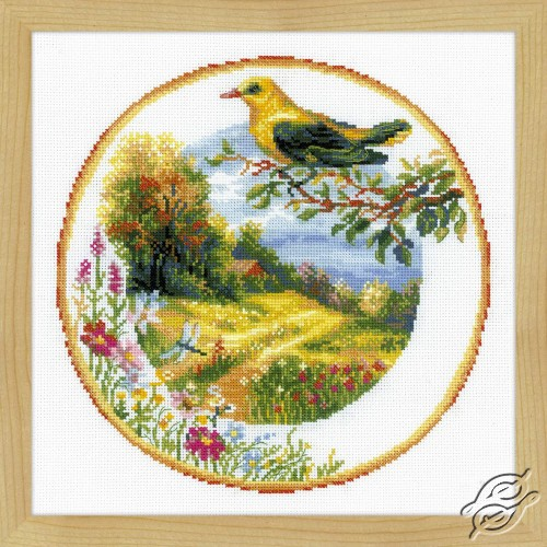 Plate with Oriole by RIOLIS - 1693
