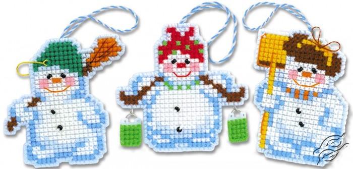 Christmas Tree Decoration Snowmen by RIOLIS - 1681AC