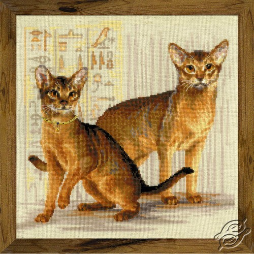 Abyssinian Cats by RIOLIS - 1671