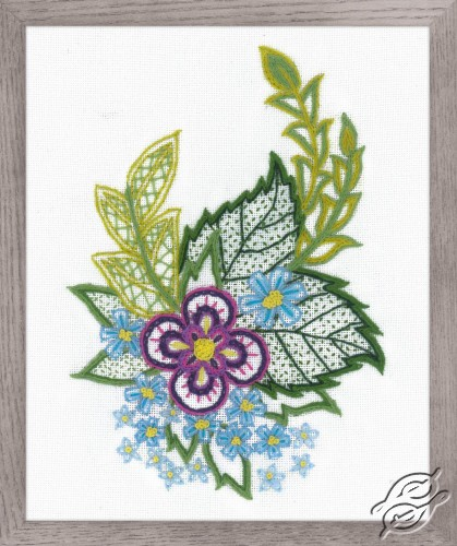 Sketch with Cornflowers by RIOLIS - 1688