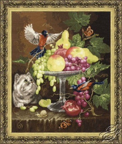 Vase with Fruits by Golden Fleece - GN-013