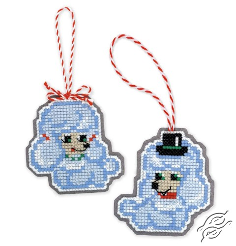 Christmas Tree Decoration Dogs by RIOLIS - 1682AC