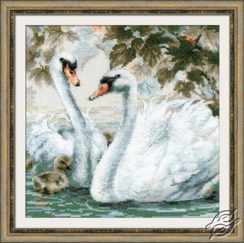 White Swans by RIOLIS - 1726