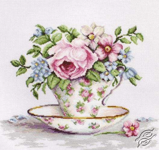 Blooms in a Tea Cup by Luca-S - BA2321