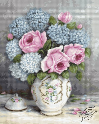 Roses & Hydrangeas by Luca-S - BA2322