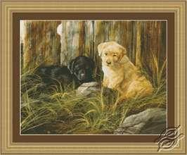 Lab Pup pair by Kustom Krafts - 97513