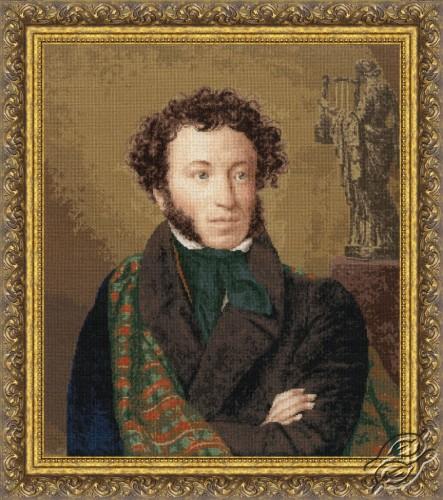 Portrait of Alexander Pushkin 1827 by Golden Fleece - MK-045