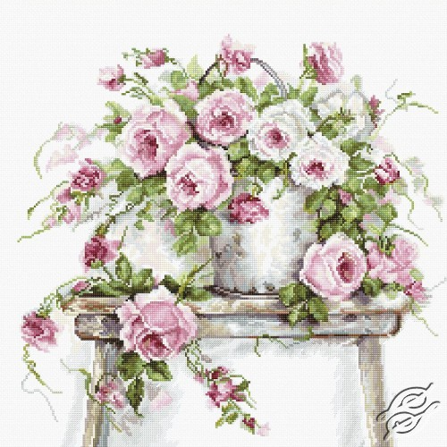 Roses on a Stool by Luca-S - B2331