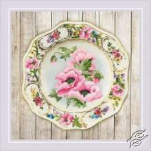Plate with Pink Poppies by RIOLIS - 0075-PT