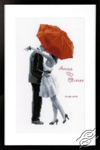 Under My Red Umbrella by Vervaco - PN-0166096