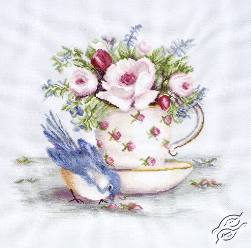 Bird and Tea Cup by Luca-S - B2324