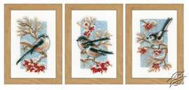 Long-tailed Tits & Red Berries by Vervaco - PN-0166427
