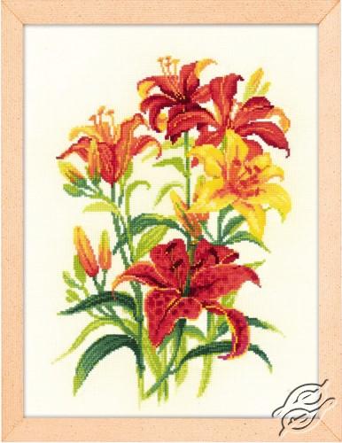 Tiger Lilies by RIOLIS - 1782