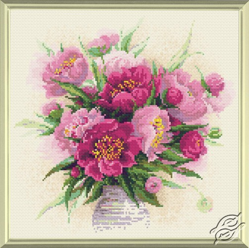 Peonies in a Vase by RIOLIS - AM0009