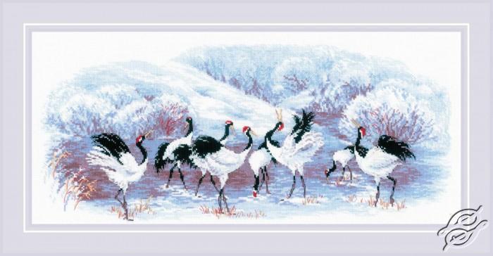 Japanese Cranes by RIOLIS - 1806