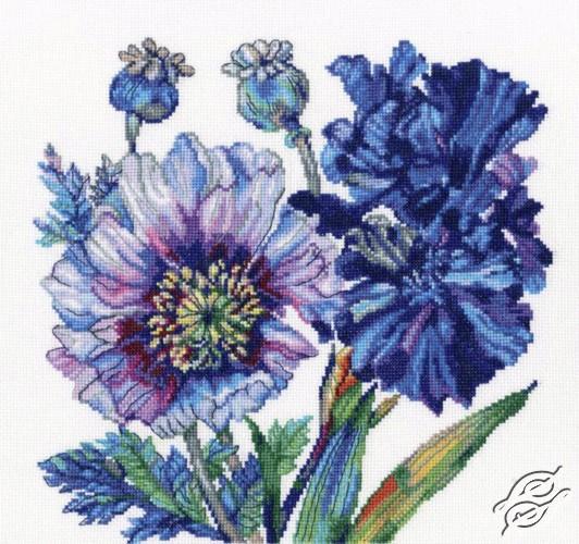 Poppies and Irises by RTO - M605