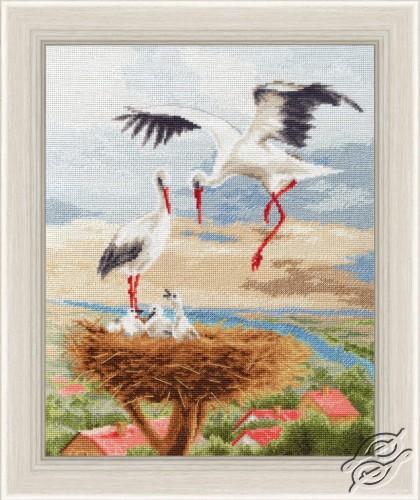 Storks on the Roof by Golden Fleece - Z-050