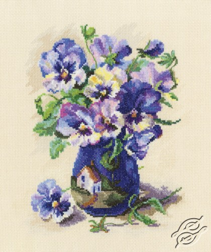 Pansies in Torquay Pottery by RTO - M719