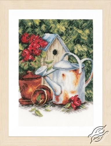 Watering Can & Birdhouse by Lanarte - PN-0167124