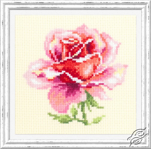 Pink Rose by Magic Needle - 150-002