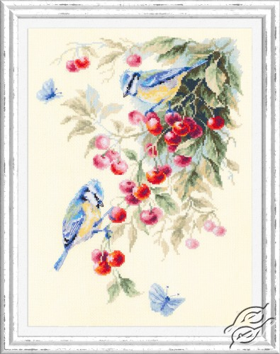 Blue Tits and Cherry by Magic Needle - 130-021