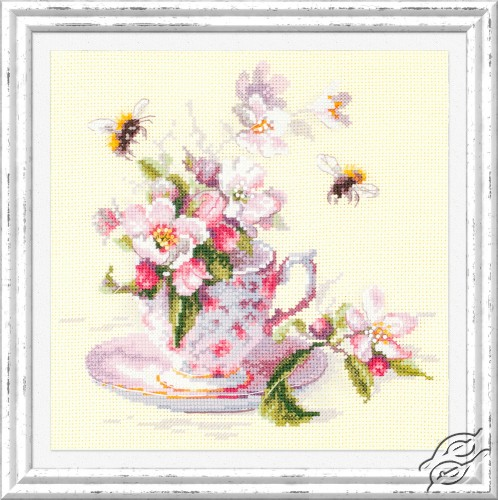 Cup and Apple Blossom by Magic Needle - 120-041