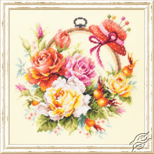 Roses for Needlewoman by Magic Needle - 100-122