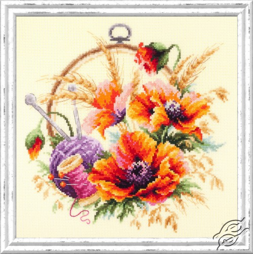 Poppies for Needlewoman by Magic Needle - 100-123