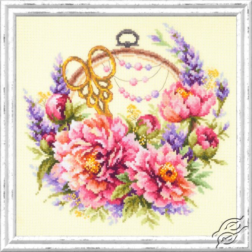 Peonies for Needlewoman by Magic Needle - 100-124