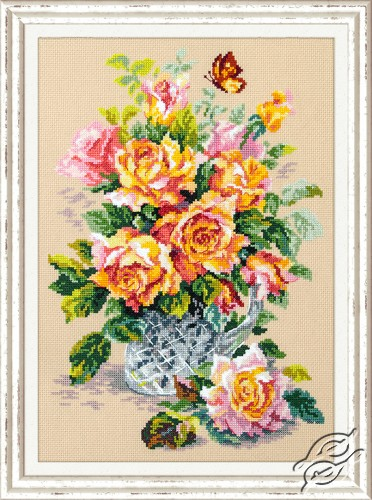 Tea Roses by Magic Needle - 100-021