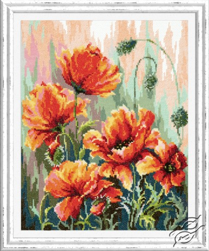 Poppies in the Morning Light by Magic Needle - 40-72