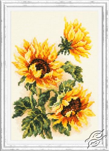 Three Sunflowers by Magic Needle - 40-78