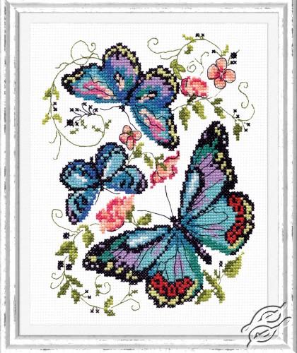 Blue Butterflies by Magic Needle - 42-03